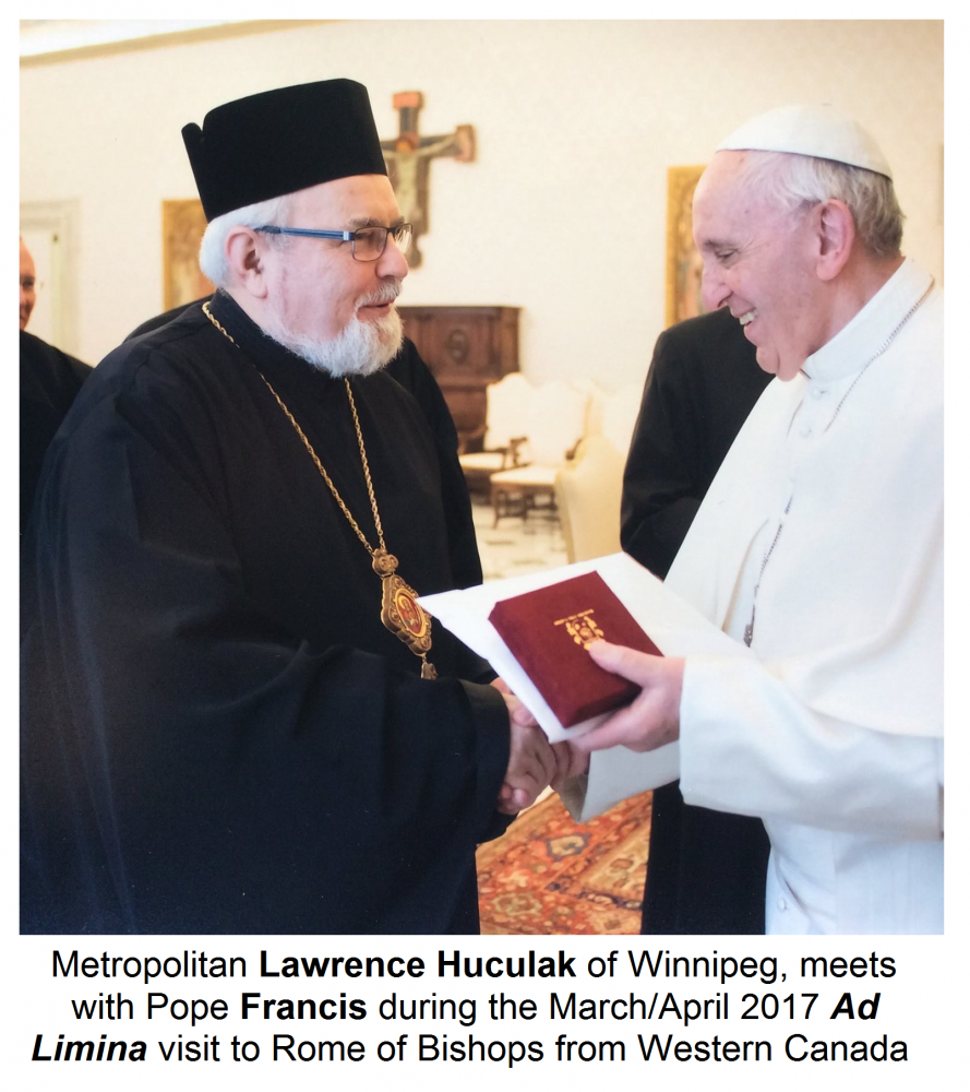 Metropolitan lawrence and western canadian bishops in rome metropolitan lawrence huculak the archbishop of winnipeg and three other ukrainian catholic bishops joined all the catholic bishops from across western m4hsunfo